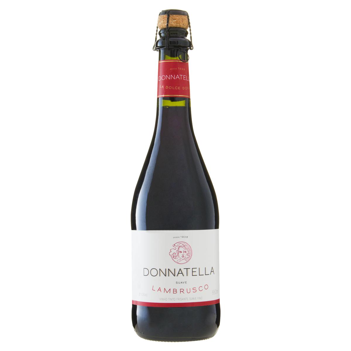 Vinho Brasileiro Tinto Frisante Fino Suave Donnatella Lambrusco Garrafa 660ml